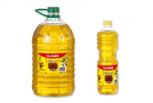 Aceite de girasol refinado - Olisan