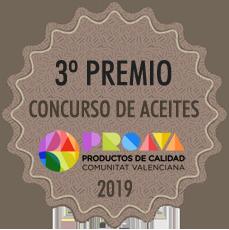 3º Premio Concurso de aceites Proava 2019